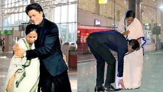 Download Shahrukh Khan Shows Respect To Mamata Banerjee By Touching Her FEET In Public Video