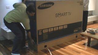 Download Samsung LED TV 75″ 8000 series UNBOXING Video