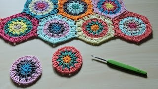 Download Cómo hacer y unir hexágonos de ganchillo - How to make crochet hexagons Video