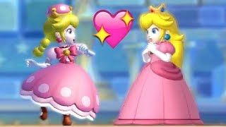 Download All Endings in New Super Mario Bros U Deluxe - Mario Luigi Peachette (All Characters & Reactions) Video