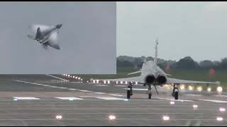 Download Hold your breath guys F-22 Raptor vs Typhoon Eurofighter takeoff and some flying display highlights Video