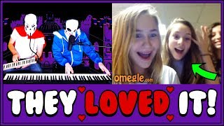 Download Piano Duet AMAZES Omegle with Undertale Music!! Video
