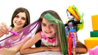 Download Салон красоты Эквестрия Герлз. Мелки для волос, как Радуга Дэш. Video