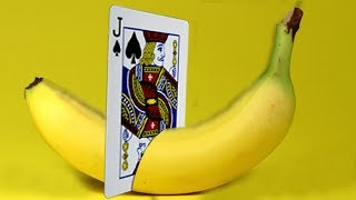 Download ONLY 1% OF PEOPLE KNOW THE SECRETS OF THESE MAGIC TRICKS - BANANA and CARD MAGIC TRICK Video