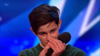 Download Singer Reuben Grey Sings To Girlfriend Gets SHOCKED! | Auditions 2 | Britain's Got Talent 2017 Video