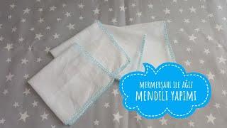 Download Mermerşahi bezi ile bebek ağız mendili nasıl yapılır. Bebek ağız mendili yapılışı, makinasız dikiş Video