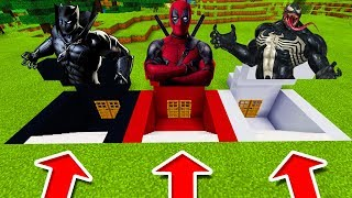 Download Minecraft PE : DO NOT CHOOSE THE WRONG SECRET BASE! (Black Panther, DeadPool & Venom) Video