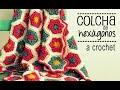 Download Colcha de Hexágonos a Crochet - PASO A PASO - Parte 1 de 2 Video