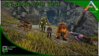 gloomy ARK #137 · checking vulcano cave with Chalicotherium · ARK