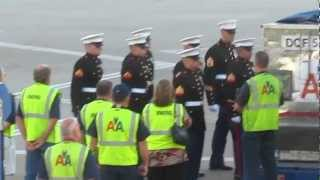 Download US Military coffin transfer at DFW airport Video