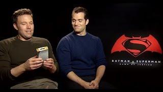 Download Ben Affleck & Henry Cavill smell Batman v Superman aftershave for the first time Video