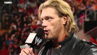 Download Raw: Edge reveals that he must retire from competition Video