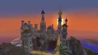 Download Minecraft Fantasy Castle Build Timelapse Video