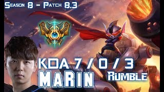 Download MaRin RUMBLE vs GANGPLANK Top - Patch 8.3 KR Ranked Video