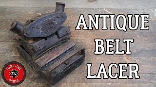 Download Antique Belt Lacer [Restoration] Video