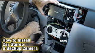 Download How to Install a Car Stereo and Backup Camera - Toyota Corolla Video