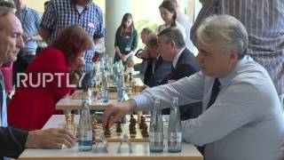 Download Germany: Russian Duma reps play chess against German parliamentarians in Berlin Video