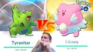 Download TYRANITAR VS BLISSEY! WHO IS THE BETTER GEN 2 POKEMON? Pokemon Go Gym Battle Challenge! Video