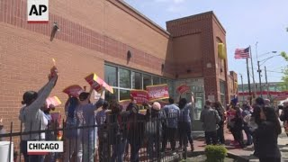 Download McDonald's workers protest workplace violence Video