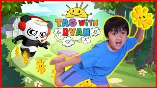 Download Ryan Plays Tag with Ryan Game on iPad with Mommy! Ryan VS Mommy Who scores higher Challenge! Video