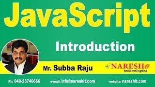 Download Introduction to JavaScript | JavaScript Tutorial | Mr. Subba Raju Video