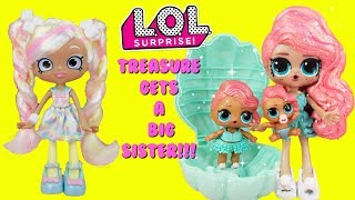 Download LOL SURPRISE Pearl Surprise Treasure Gets A Big Sister DIY Shopkins Shoppie Doll Makeover Video