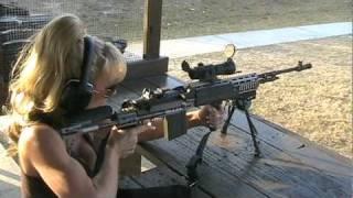 Download Blondie Firing Full Auto M14 EBR 7.62 NATO Rifle Video