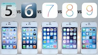 Download iOS 5 vs iOS 6 vs iOS 7 vs iOS 8 vs iOS 9 on iPhone 4S Speed Test Video
