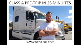 Download HOW TO PASS A Class A Pre trip inspection in 26 min. Conducted by DRIVE509 CDL school Video