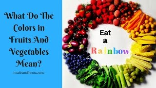 Download What do the color in fruits and vegatables mean| Eat a rainbow| Health and fitness Zone Video
