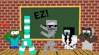 Download Monster School: BOTTLE FLIP CHALLENGE VS GRANNY + SLENDRINA + BALDI'S BASIC - Minecraft Animation Video