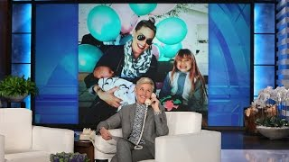 Download P!nk Talks Baby Number Two and Ellen's Theme Song Video
