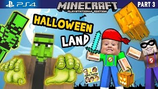 Download Chase & Duddy play in MINECRAFT Halloween Land w/ Nether & The End DLC (FGTEEV PS4 Part 3 Gameplay) Video