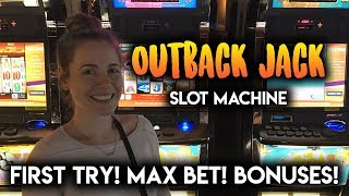 Download First Try on Outback Jack Slot Machine! MAX Bet BONUS! Video