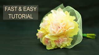 Download How To Make Tissue Paper Flowers : easy unique tissue paper flowers tutorial Video