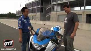 Download 2009 Suzuki GSX-R1000 test ride at Kevin Schwantz School Video