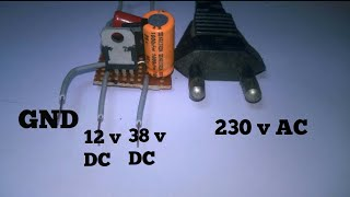 Download how to make transformerless power supply 230v AC to 12v & 38 DC Video