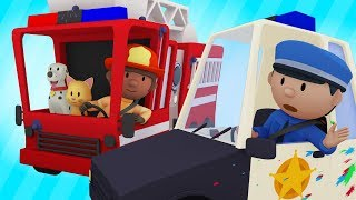 Download Neighborhood Heroes Take Their Mean Machines to Carl's Car Wash | Cartoons For Kids Video