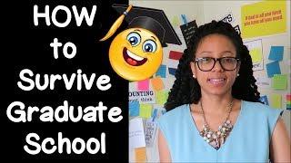 Download SURVIVING GRADUATE SCHOOL | 10 Tips from a recent graduate! Video