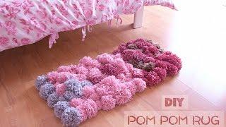 Download DIY Pom Pom Rug (no glue) - Bedroom Decor Tutorial Video
