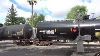 Download BNSF 6187 Manifest North, D St. Railroad Crossing, Sacramento CA Video