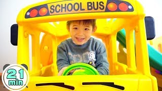 Download Assembling video Compilation by Xavi - Yaya School Bus Slide, Playhouse, Tayo Bus, Excavator ride on Video