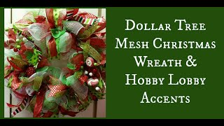 Download Dollar Tree Mesh Christmas Wreath & Hobby Lobby Accents Video