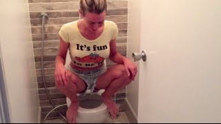 Download How & why I squat on the toilet to poop (live demo) Video