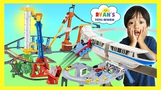 Download BIGGEST TOY TRAINS TRACK FOR KIDS Thomas & Friends Trackmaster Accidents will Happen Disney Cars Video
