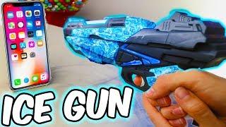 Download ICE GUN VS IPHONE 8 *IT BROKE* Video