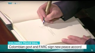 Download Colombia Peace Deal: Colombian govt and FARC sign new peace accord Video