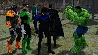 Download Marvel vs DC - The Incredible Hulk vs Green Lantern, Batman, Deathstroke, Nightwing Video