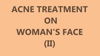 Download Acne Treatment on Woman's Face (II) - Left side Video