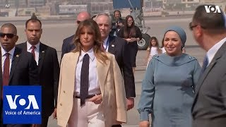 Download US First Lady Melania Trump Visits Egypt Video